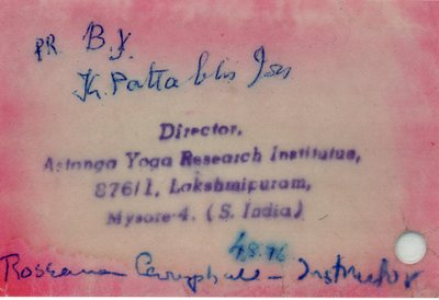 The note given to Roseanna giving her permission to teach the series